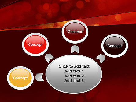 Abstract Red Spots PowerPoint Template Slide 7