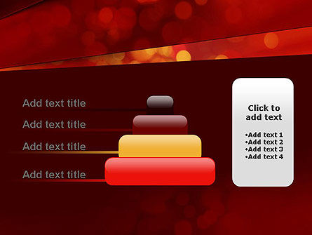 Abstract Red Spots PowerPoint Template Slide 8