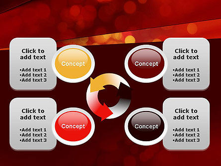 Abstract Red Spots PowerPoint Template Slide 9