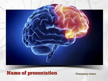 Human Brain Frontal Lobe Powerpoint Template Backgrounds