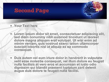 Human Brain Frontal Lobe PowerPoint Template, Slide 2, 10925, Medical — PoweredTemplate.com