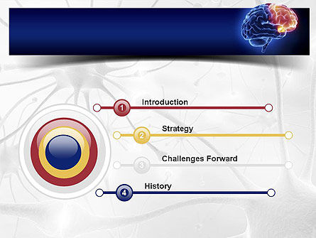 Human Brain Frontal Lobe PowerPoint Template, Slide 3, 10925, Medical — PoweredTemplate.com