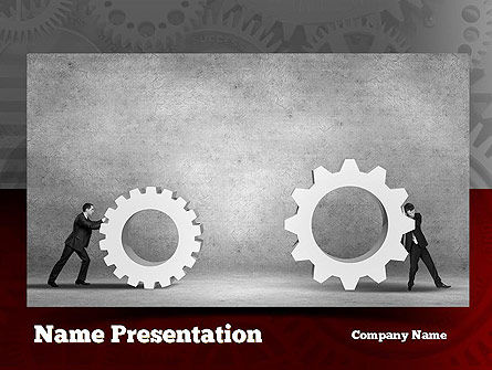 Gears of Project PowerPoint Template, 10927, Business Concepts — PoweredTemplate.com