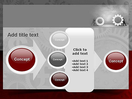 Gears of Project PowerPoint Template Slide 17