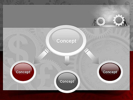 Gears of Project PowerPoint Template, Slide 4, 10927, Business Concepts — PoweredTemplate.com