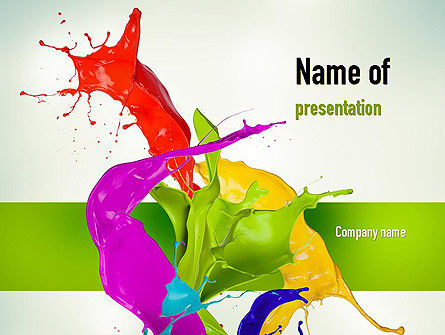 Art & Entertainment: Paint Splash PowerPoint Template #10929