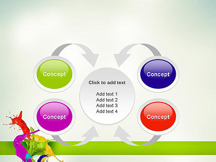 Paint Splash PowerPoint Template Slide 6