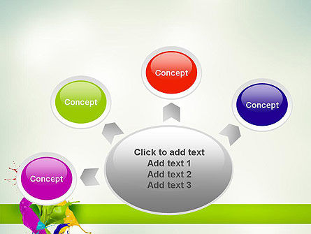 Paint Splash PowerPoint Template Slide 7
