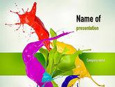 Paint Splash PowerPoint Template#1