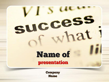 Definition of Success PowerPoint Template