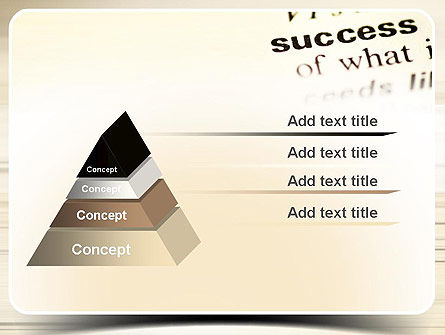 Definition of Success PowerPoint Template Slide 12