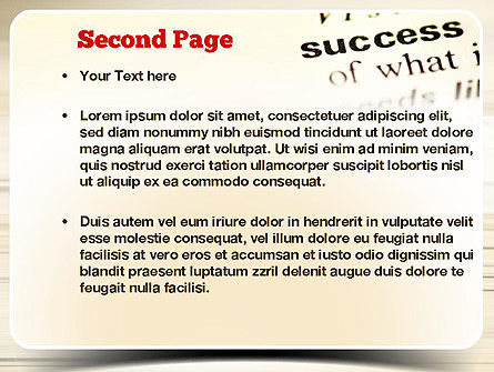 Definition of Success PowerPoint Template Slide 2