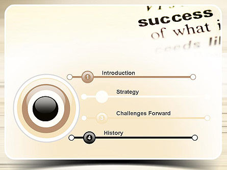 Definition of Success PowerPoint Template Slide 3