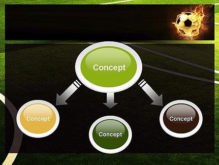 Football in Fire Flame PowerPoint Template Slide 4