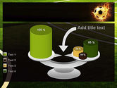 Football in Fire Flame PowerPoint Template#10