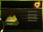 Football in Fire Flame PowerPoint Template#12