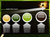 Football in Fire Flame PowerPoint Template#13