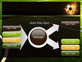 Football in Fire Flame PowerPoint Template#14