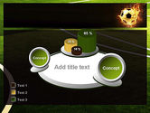 Football in Fire Flame PowerPoint Template#16
