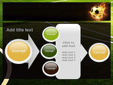 Football in Fire Flame PowerPoint Template#17