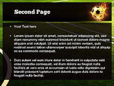 Football in Fire Flame PowerPoint Template#2
