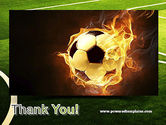 Football in Fire Flame PowerPoint Template#20
