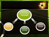 Football in Fire Flame PowerPoint Template#4