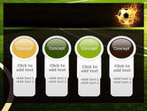 Football in Fire Flame PowerPoint Template#5