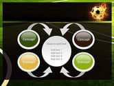 Football in Fire Flame PowerPoint Template#6