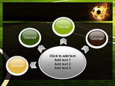 Football in Fire Flame PowerPoint Template#7