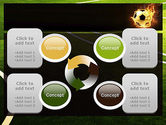 Football in Fire Flame PowerPoint Template#9