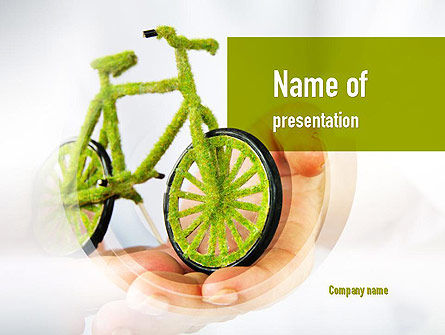 Green Bicycle PowerPoint Template, 10932, Nature & Environment — PoweredTemplate.com