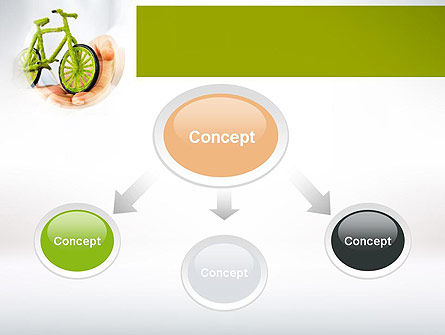 Green Bicycle PowerPoint Template, Slide 4, 10932, Nature & Environment — PoweredTemplate.com