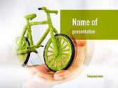 Nature & Environment: グリーンバイク - PowerPointテンプレート #10932