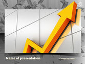 Financial/Accounting: Stock Market Arrow PowerPoint Template #10934