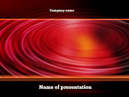 Abstract/Textures: Red Ripples PowerPoint Template #10937