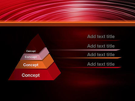 Red Ripples PowerPoint Template Slide 12