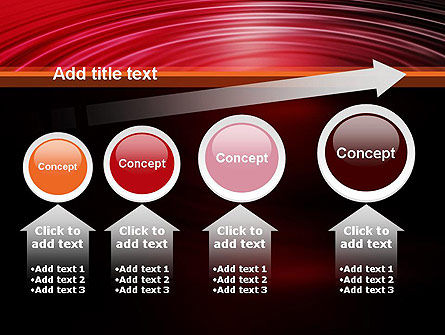 Red Ripples PowerPoint Template Slide 13