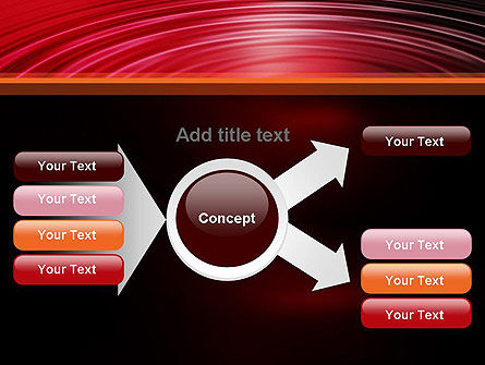 Red Ripples PowerPoint Template Slide 14