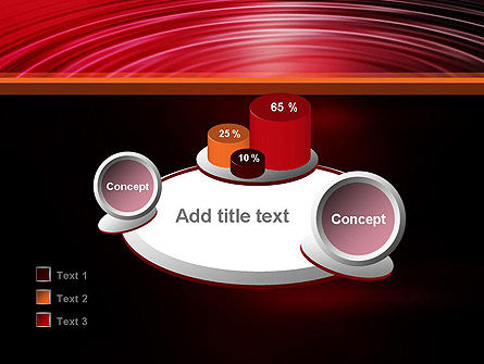 Red Ripples PowerPoint Template Slide 16