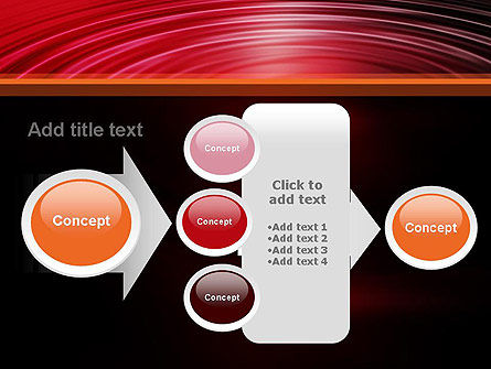Red Ripples PowerPoint Template Slide 17