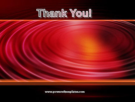 Red Ripples PowerPoint Template Slide 20