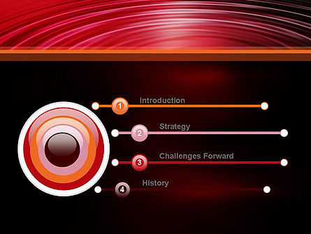 Red Ripples PowerPoint Template Slide 3