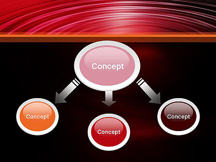 Red Ripples PowerPoint Template Slide 4