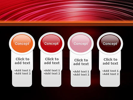 Red Ripples PowerPoint Template Slide 5