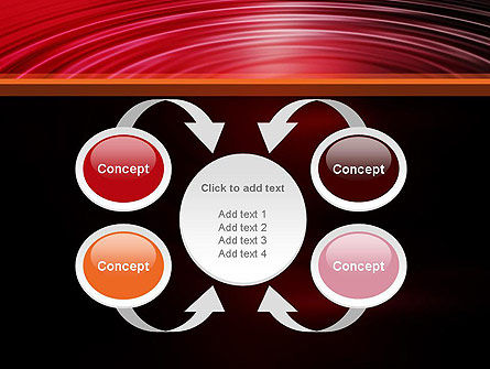 Red Ripples PowerPoint Template Slide 6