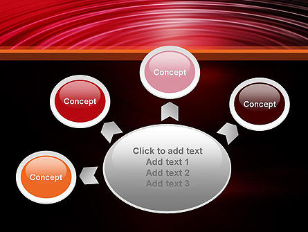 Red Ripples PowerPoint Template Slide 7
