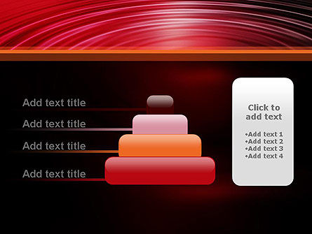 Red Ripples PowerPoint Template Slide 8