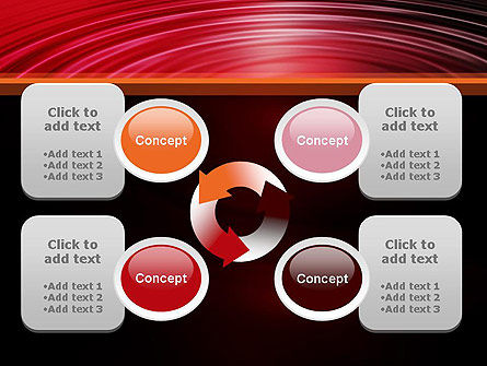 Red Ripples PowerPoint Template Slide 9