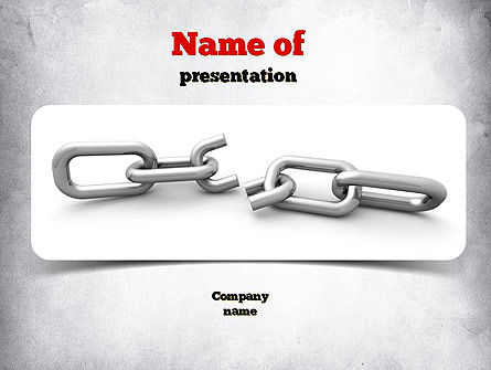 Consulting: Broken Link PowerPoint Template #10938